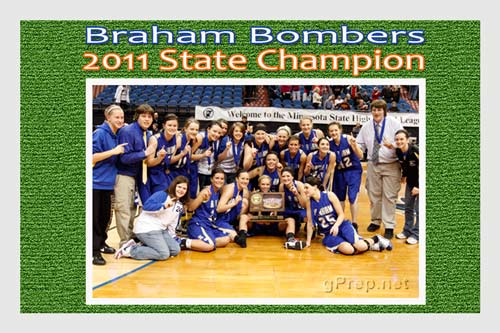 gprep braham bombers girls basketball state champ